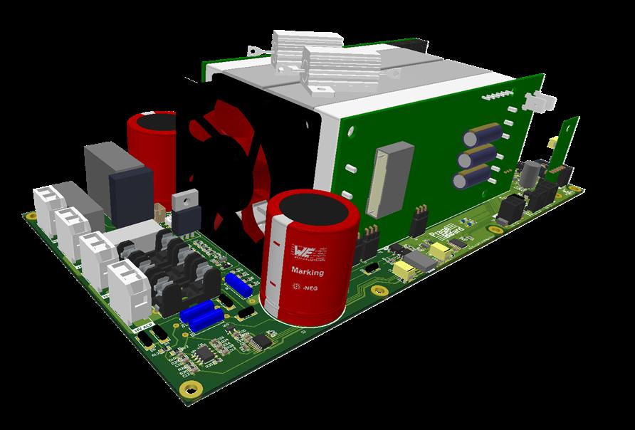 Obrázek 2: Jednotka AMS s dvěma moduly DC/DC měniče